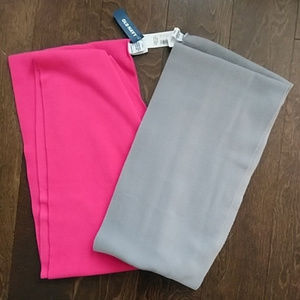NWT two Old Navy fleece infinity scarves pink/gray